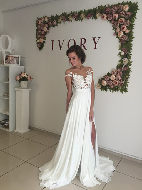 to wear - Sleeved long wedding dresses cheap video