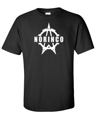 Norinco logo graphic black t shirt