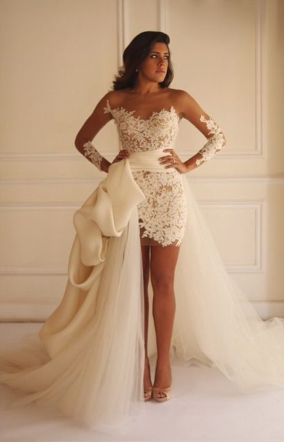 Wedding dresses,bridal gown,lace wedding dresses,two piece wedding ...