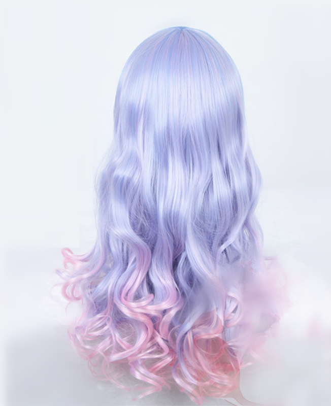 Pink Purple And Blue Wig 19