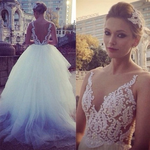 Pure White Wedding Dress,Princess Ball Gown, Wedding Dress 2017 ...