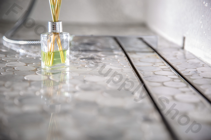 royal linear shower drain tile insert by serene steam thumbnail 2