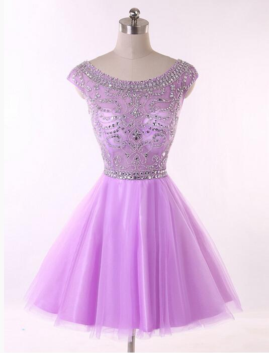 Solo Dress Homecoming Dress,Lilac Prom Dresses,Tulle Homecoming ...