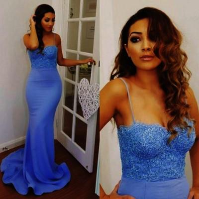 Spaghetti Strap Mermaid Prom Dresses