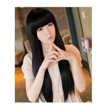 Cute korean long straight full lace front synthetic hair wig cute korean long straight full lace front synthetic hair wig voltagebd Image collections