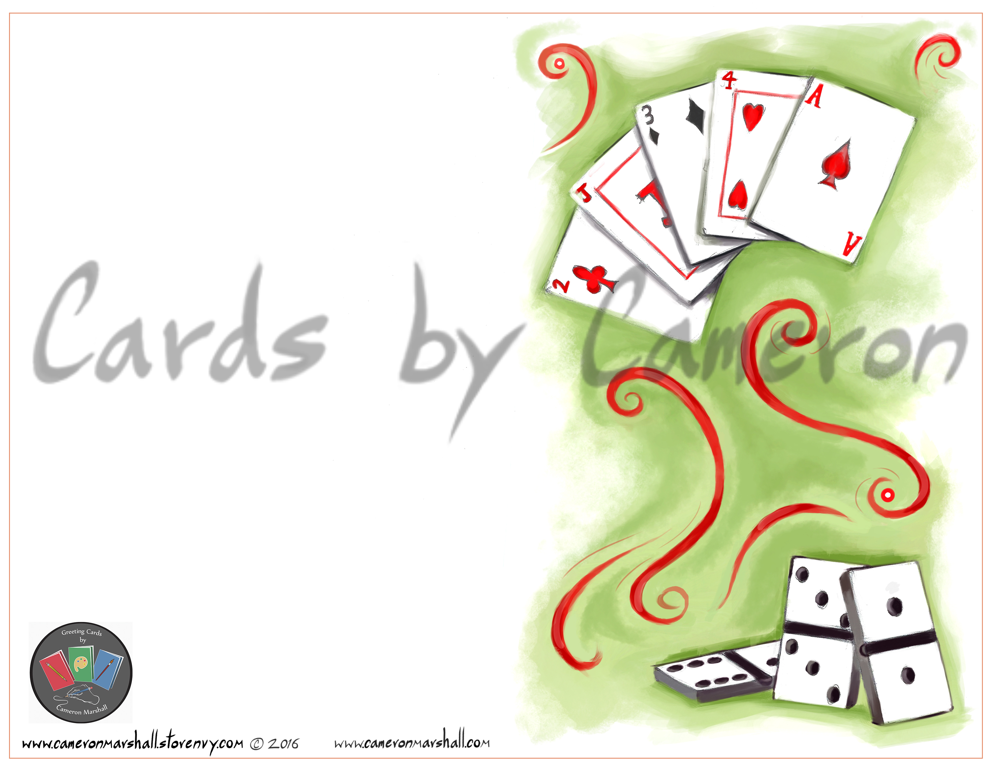 Cards & dominos · Cards by Cameron Marshall · Online Store Powered ...