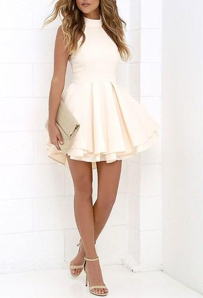 cute prom dress,short homecoming dress,chiffon prom dress,halter ...