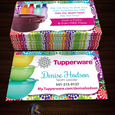 Tupperware business cards style 2 kz creative services online tupperware business cards style 2 kz creative services online store powered by storenvy colourmoves