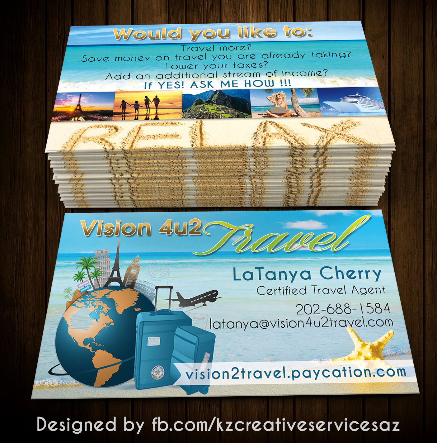 Paycation Business Cards style 2 · KZ Creative Services · Online ...