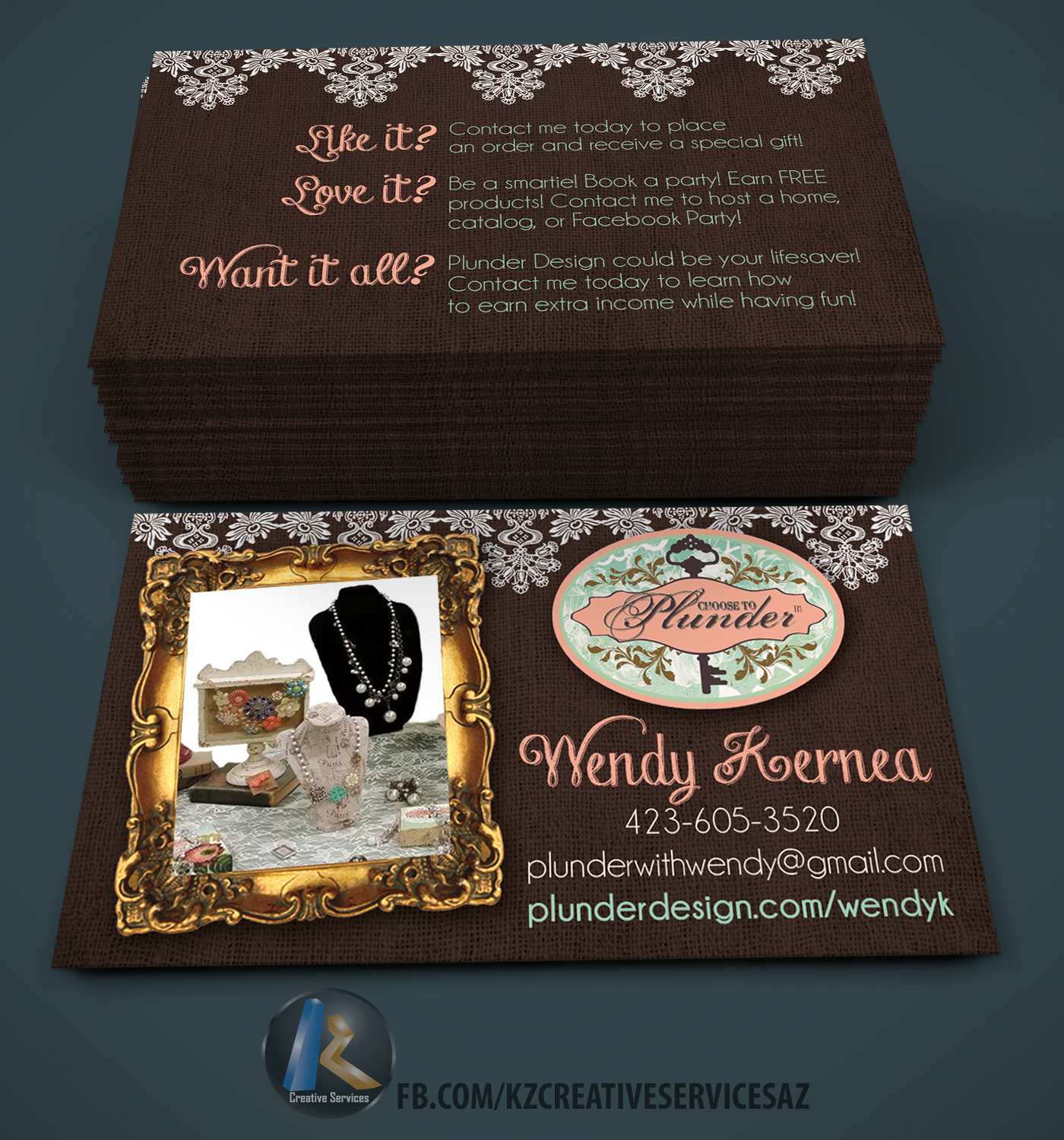 PLUNDER DESIGN Business Cards style 1 · KZ Creative Services ...