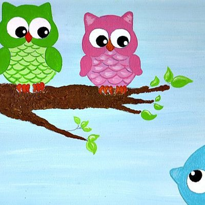"8"" x 10"" owlettes (personalized) canvas art"