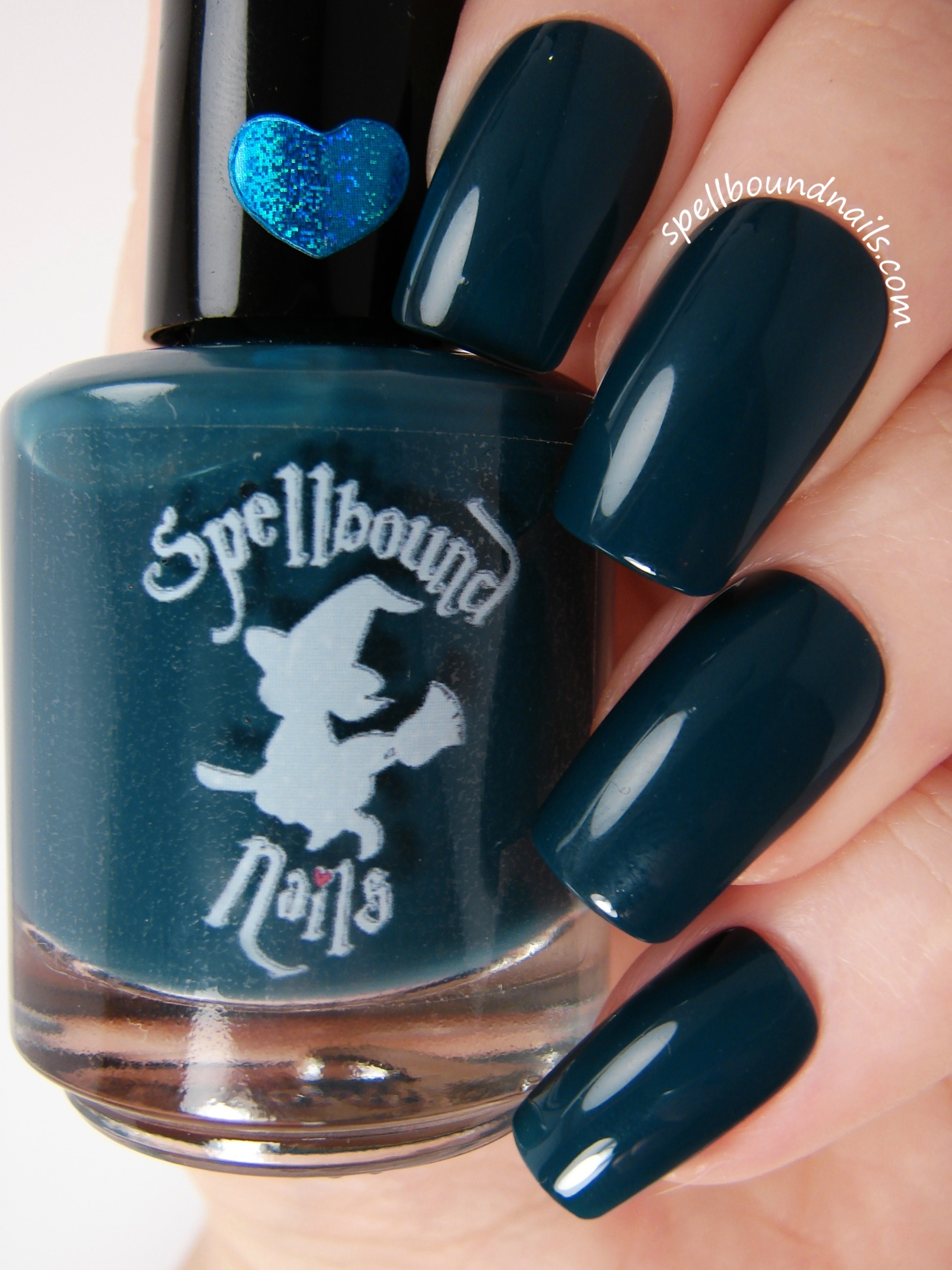 Witching Hour - Dark Blue Teal Creme Nail Polish · Spellbound Nails ...