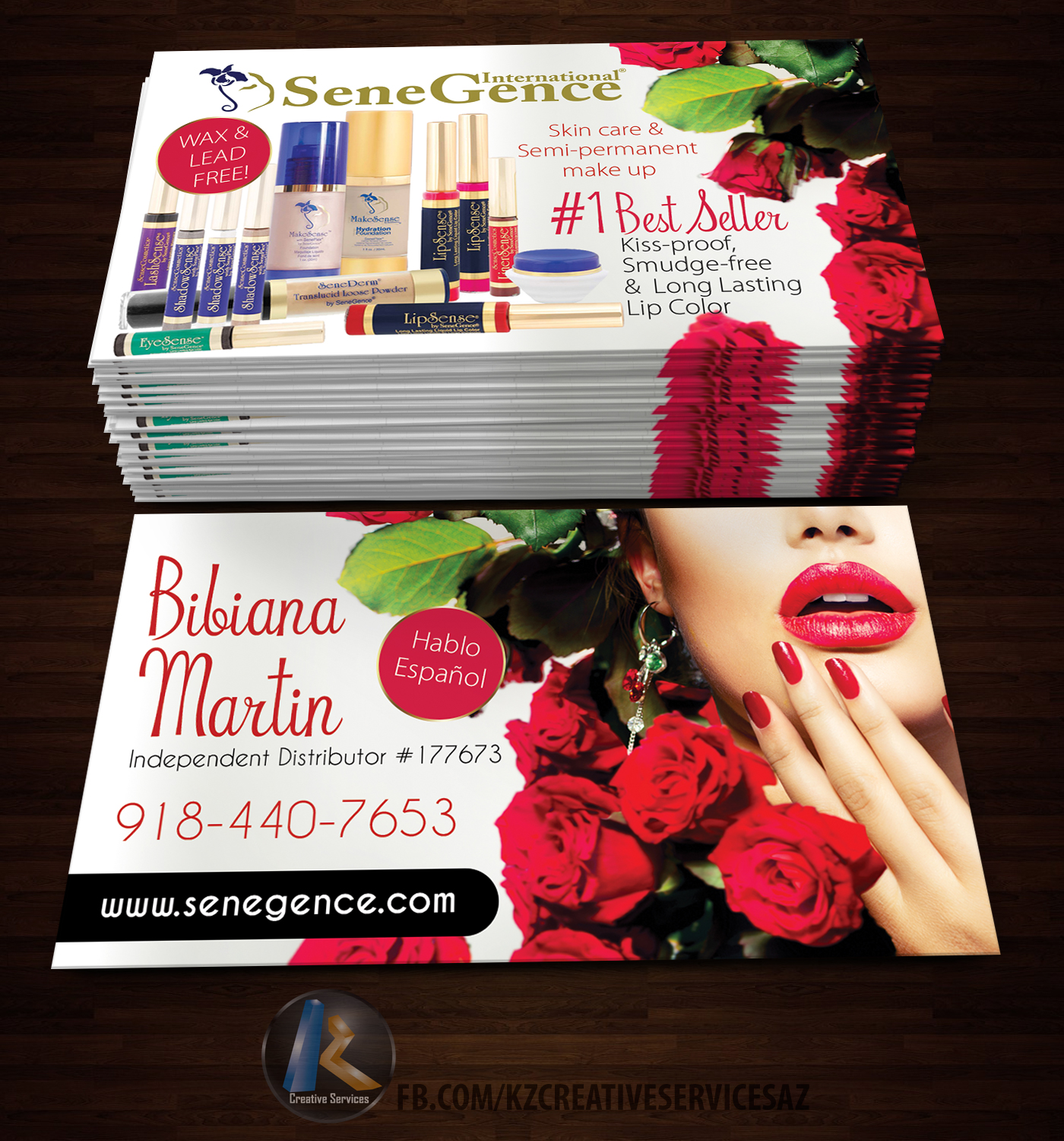 SENEGENCE Business Cards style 1 · KZ Creative Services · line