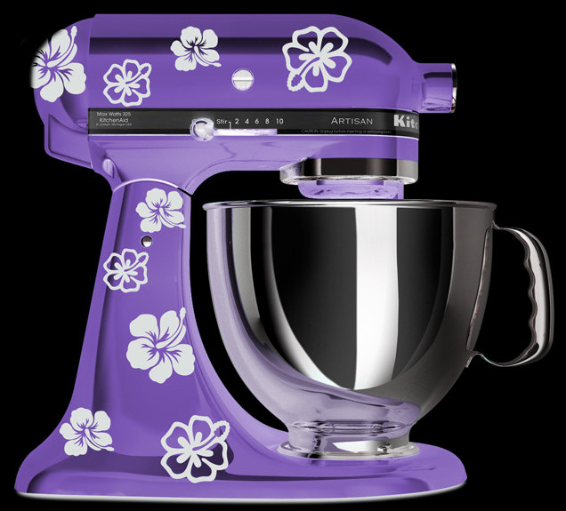 Charmant KitchenAid Mixer Art, Hibiscus Flower Decal