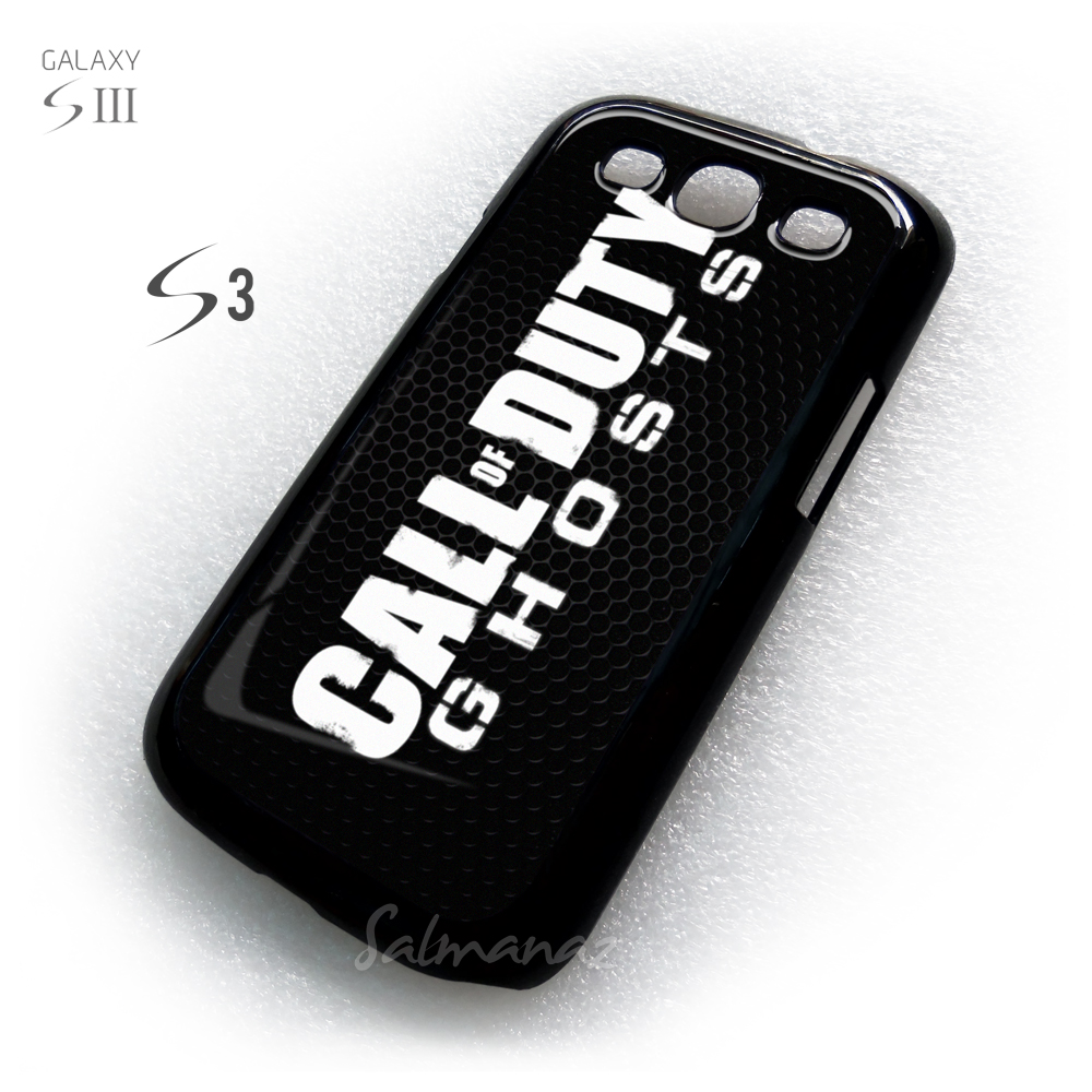 Call of Duty Ghost Grunge Text Samsung Galaxy S3 Cover Case
