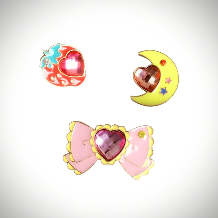 Magical Girl Jewel Enamel Pins (3 Designs)