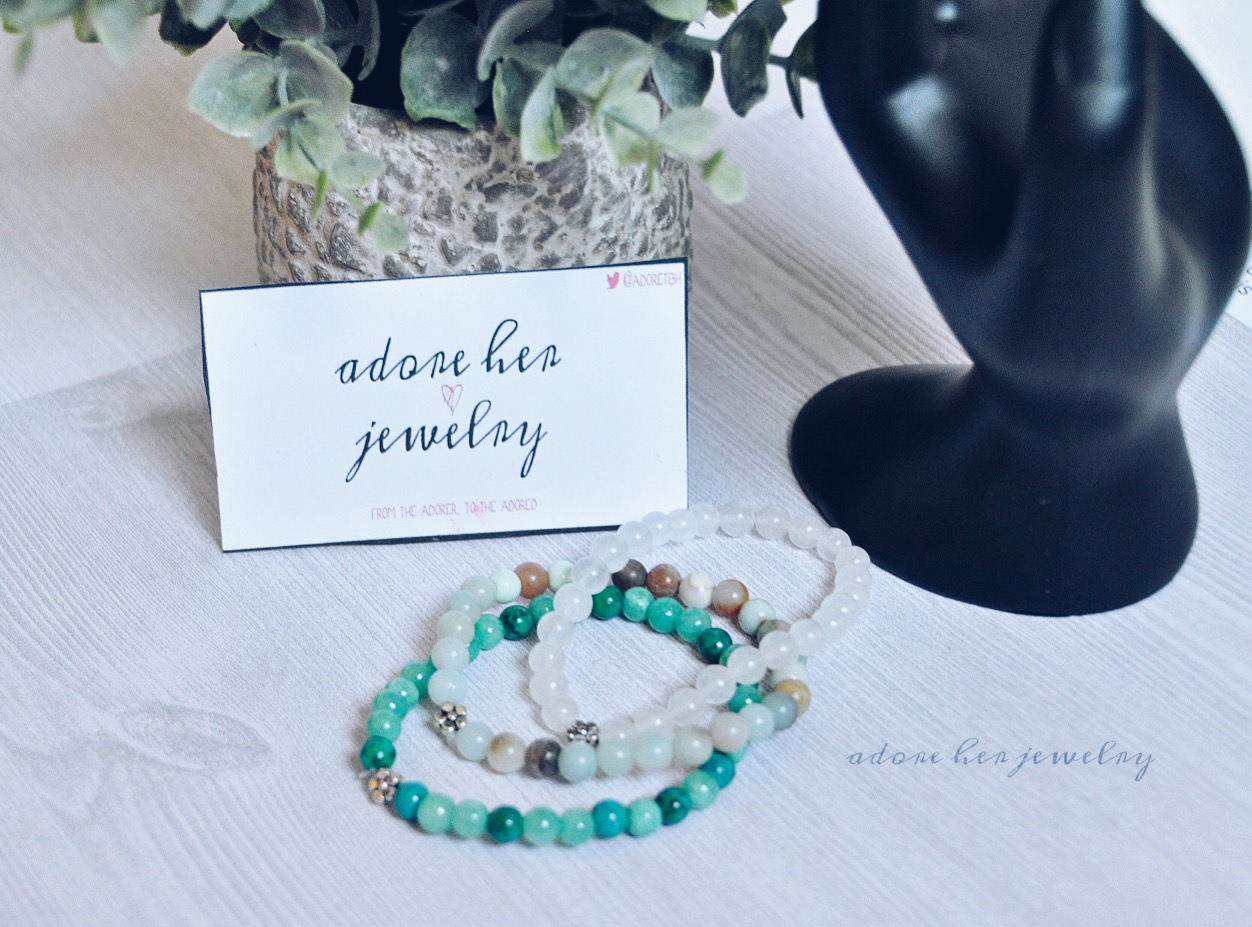 White Jade Flower Bracelet Illumena Jewelry Online Store Powered