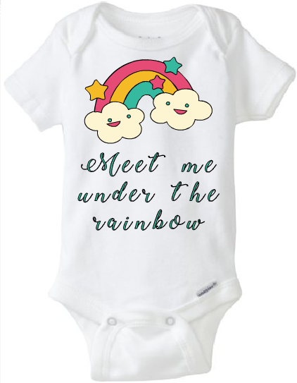 9526b48180 Baby Onesie Meet me Under the Rainbow · CryBabyFashion · Online ...