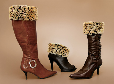 "Leopard ""Faux Fur"" Boot Topper"