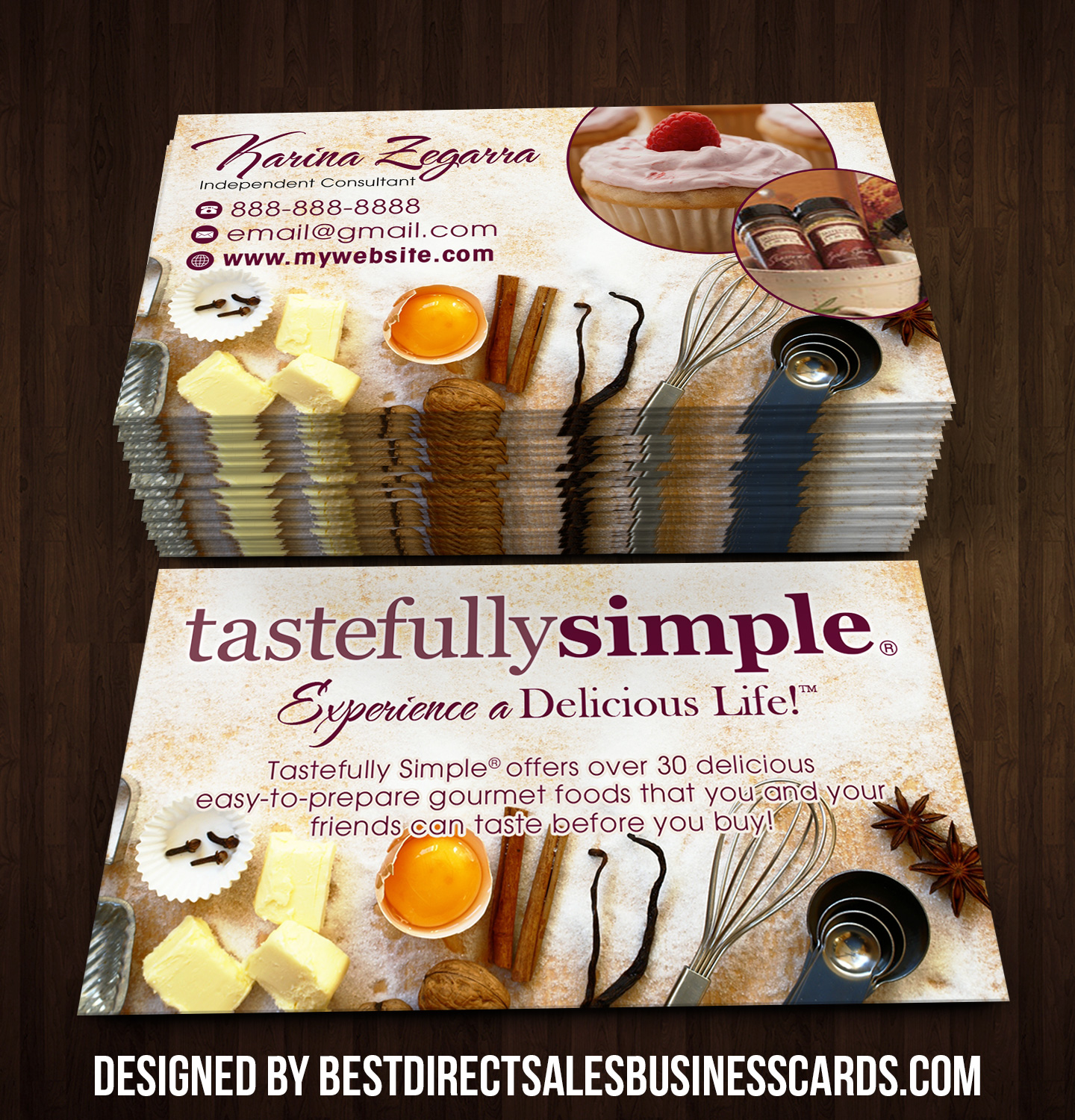 Tastefully Simple Business Cards 4 · KZ Creative Services
