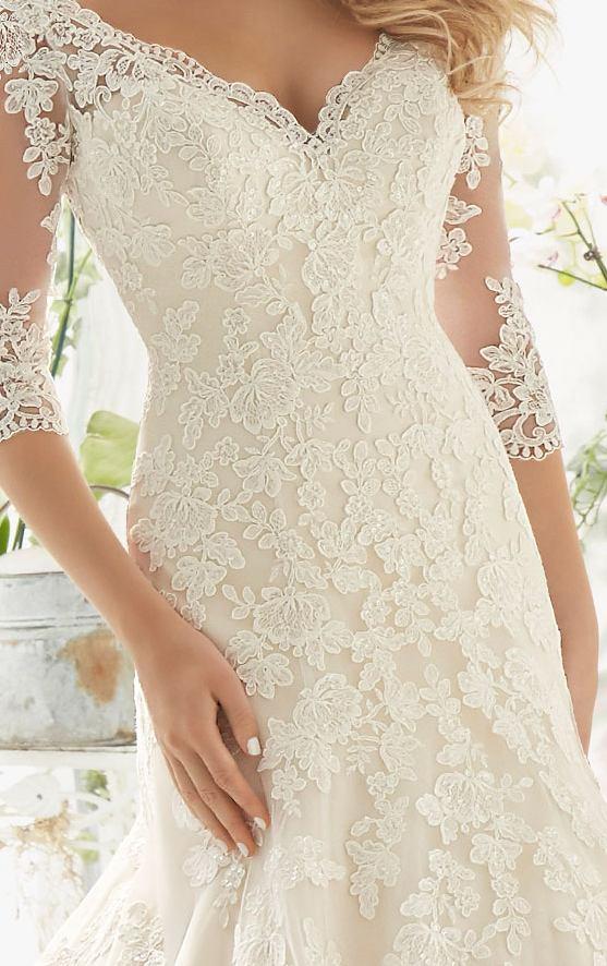 J147 Long Sleeve Wedding Dresses, Plus Size Wedding Dresses, Elegant ...