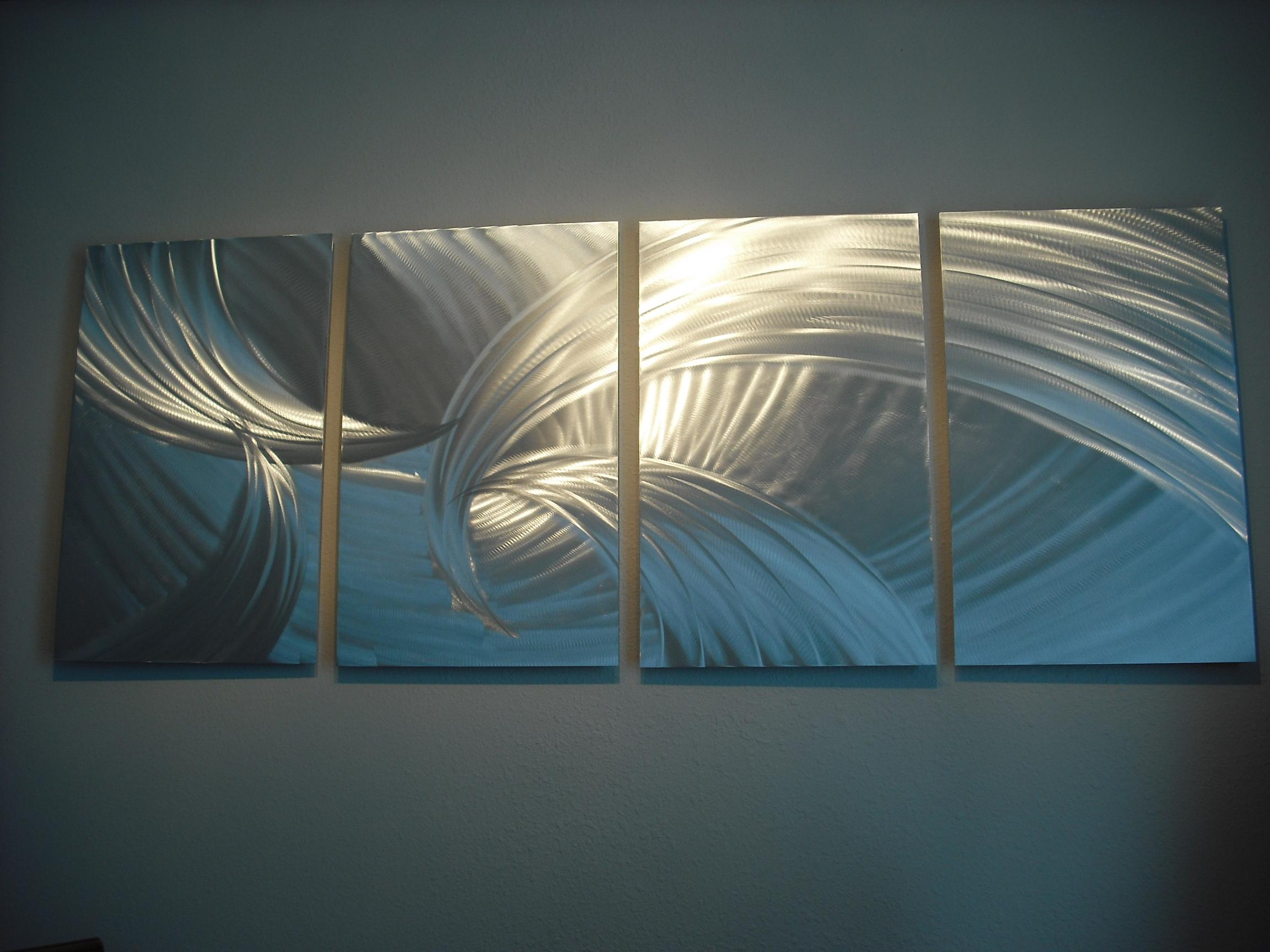 Contemporary Modern Decor Original Tempest Browns Abstract Metal Wall Art