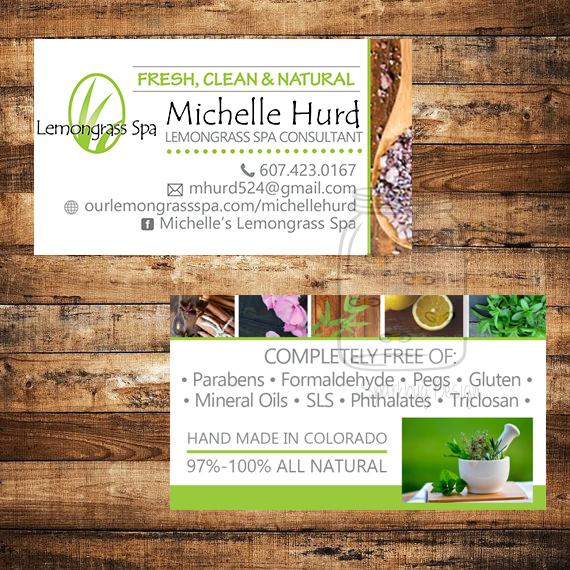 lemongrass spa business card - Spa Business Cards