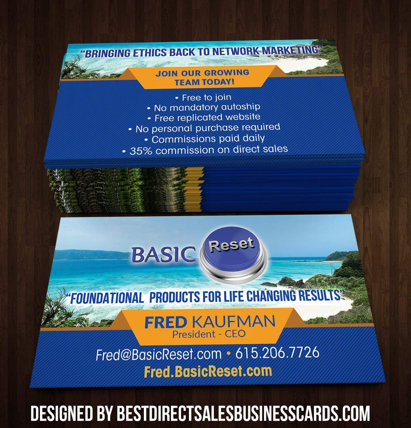 Basic Reset Business Card - 2 · KZ Creative Services · Online Store ...