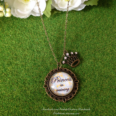 """princess in training"" necklace"