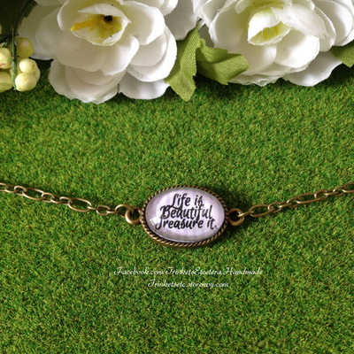"""life is beautiful treasure it"" bracelet"
