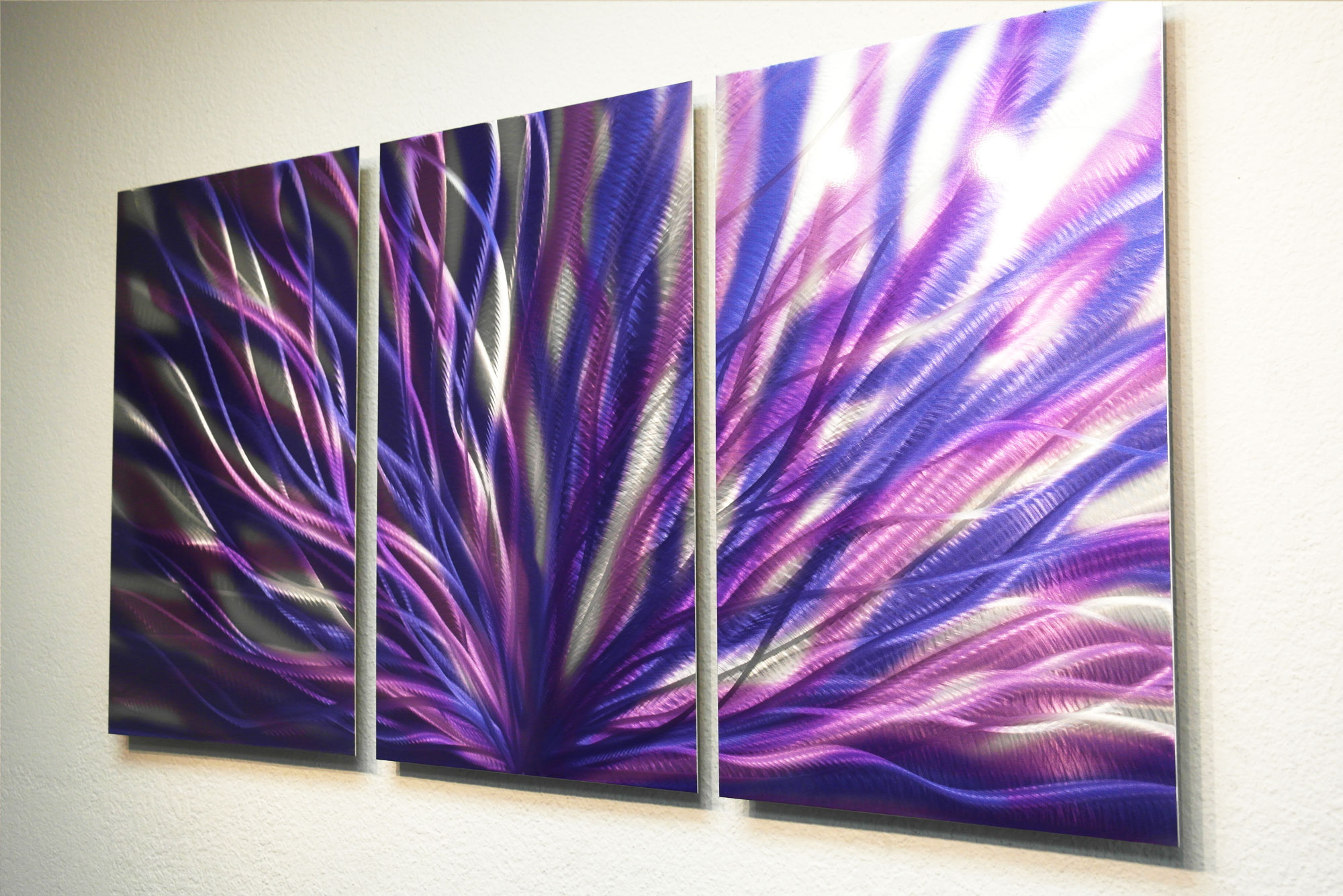 Purple Metal Wall Art Radiance Purple 47  Metal Wall Art Abstract Sculpture Modern