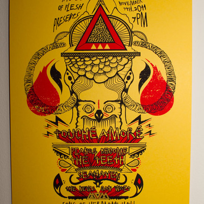 Touché amoré/pianos become the teeth - screen printed poster