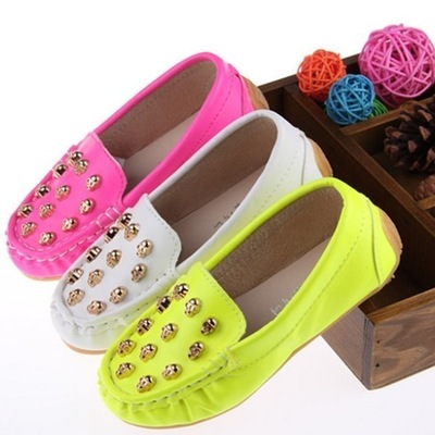 Neon skull loafers