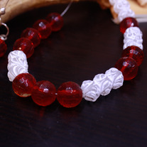 Winter Cherry Illusion Necklace
