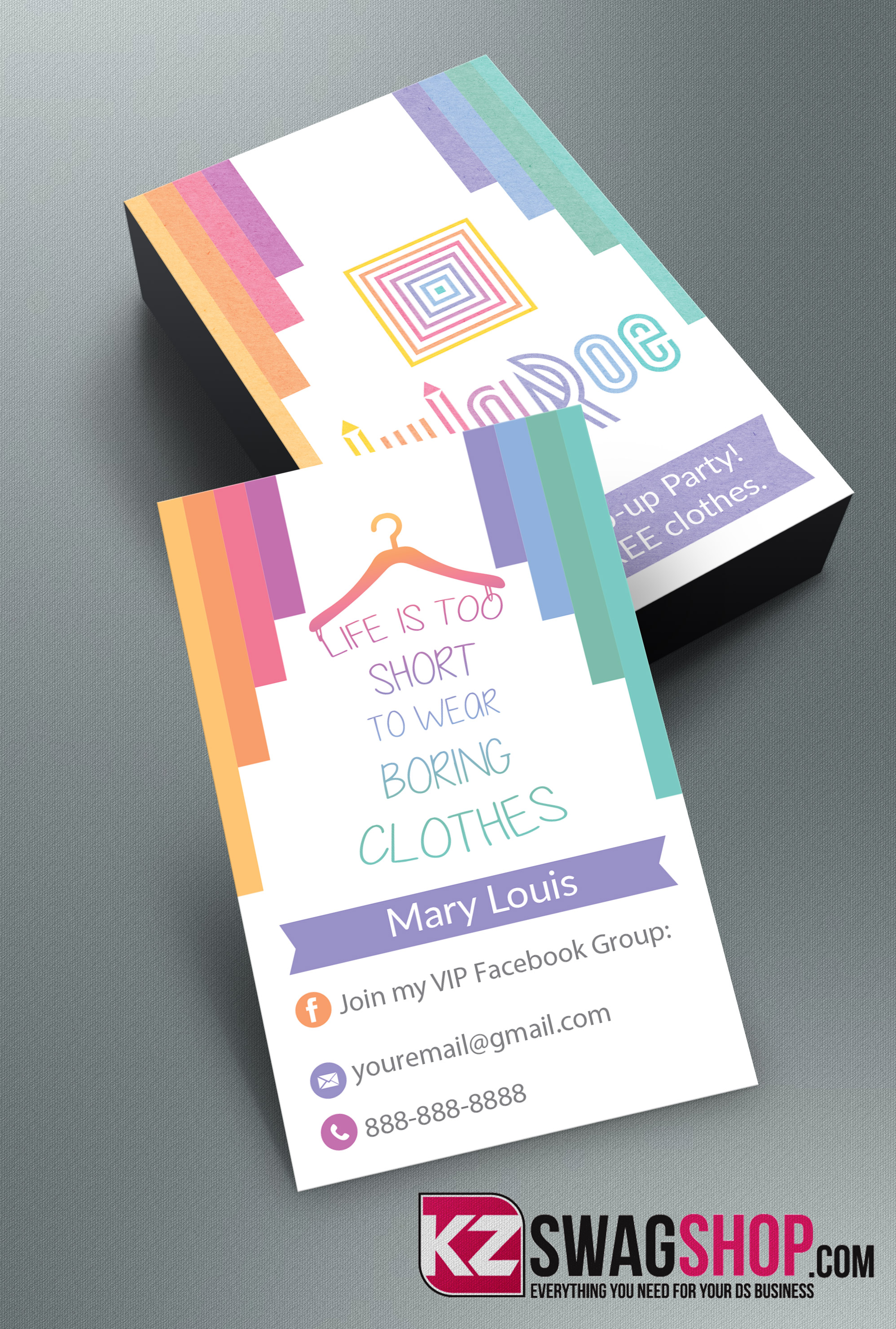 LulaRoe Business Cards 6 · KZ Creative Services · line Store
