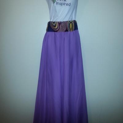 Light purple (ankara/chiffon) Maxi skirt · AfrikInspired Styles ...