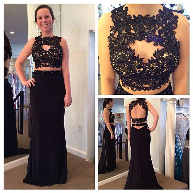 Black Straight Prom Dresses