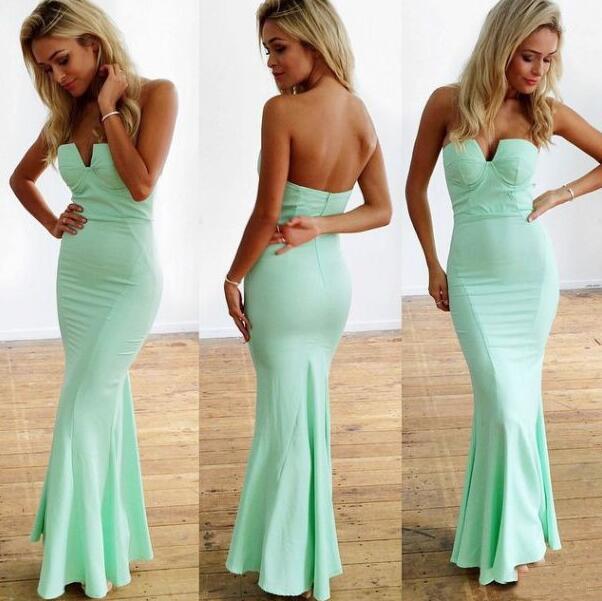 Simple Mermaid Prom Dress Sweetheart Mint Green Prom Dress ...