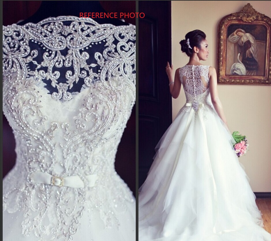 Tulle and Lace Wedding Dress Buttons Back 0040 · Onlyforbrides ...