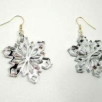 Sparkling Snowflake Earrings