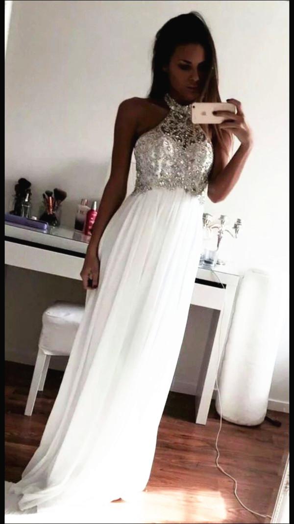 Prom Dresses, The Charming White Evening Dresses, Prom Dresses, Real ...