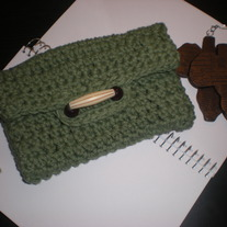 Eco Friendly Crochet Bag Wristlet Pouch