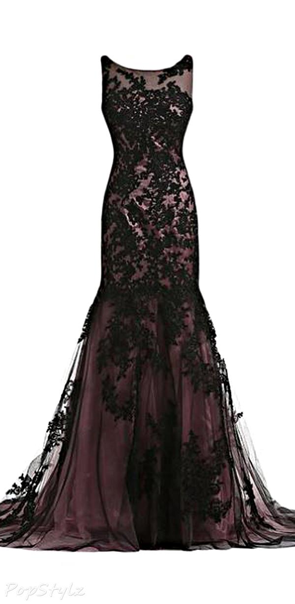 Lace Prom Dress,Long Prom Dresses,Charming Prom Dresses,Evening ...