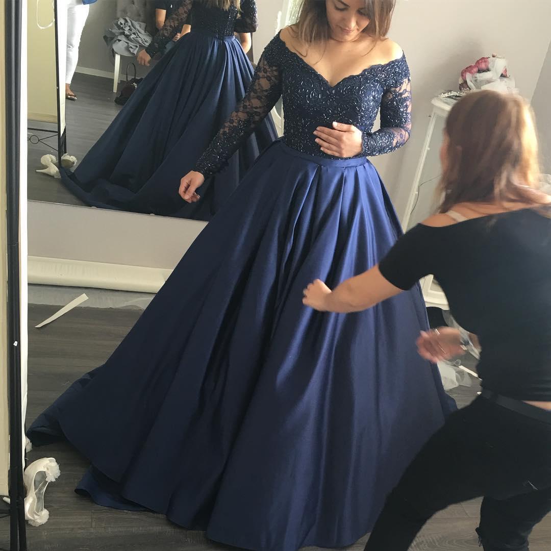 Charming Prom Dress,Off the Shoulder Prom Dress,Beading Prom Dress ...