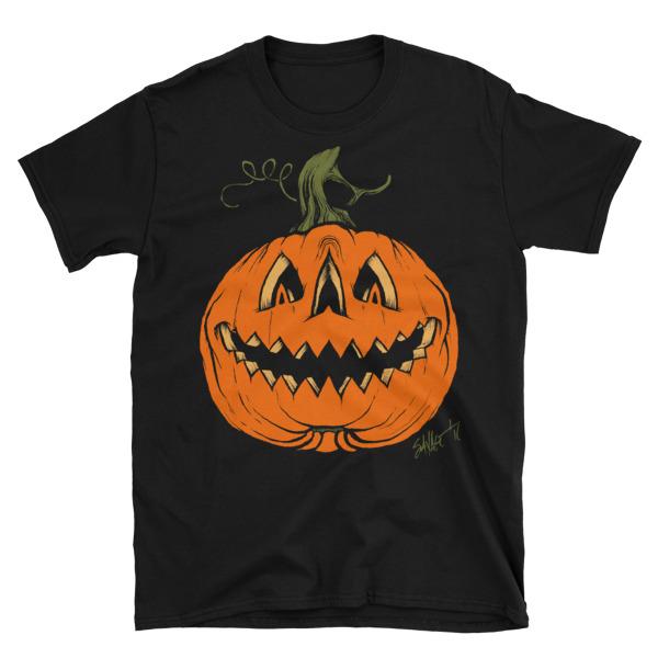 Grim Grinning Gourd Unisex T Shirt