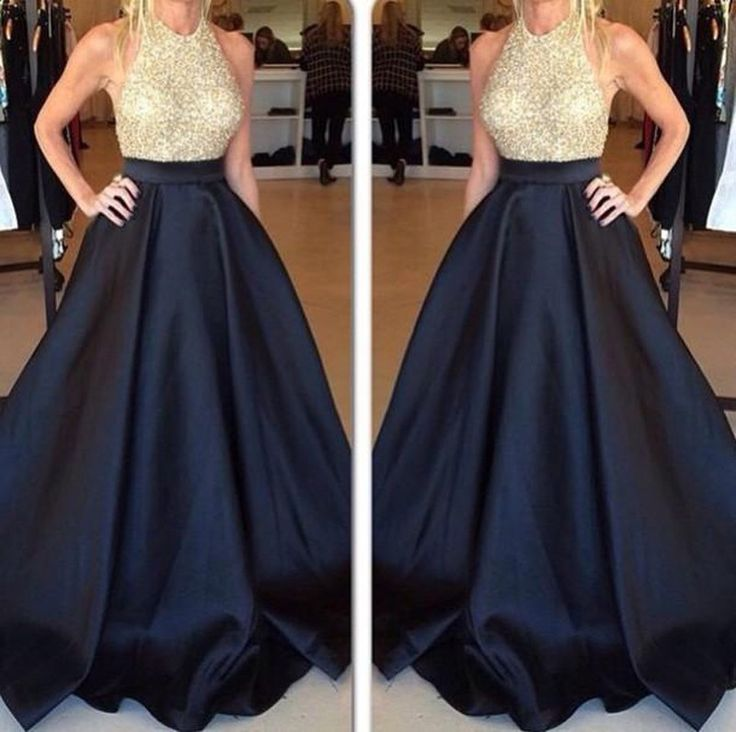 Hot Sales Black Ball Gown Prom Dresses With Pocket,Backless ...