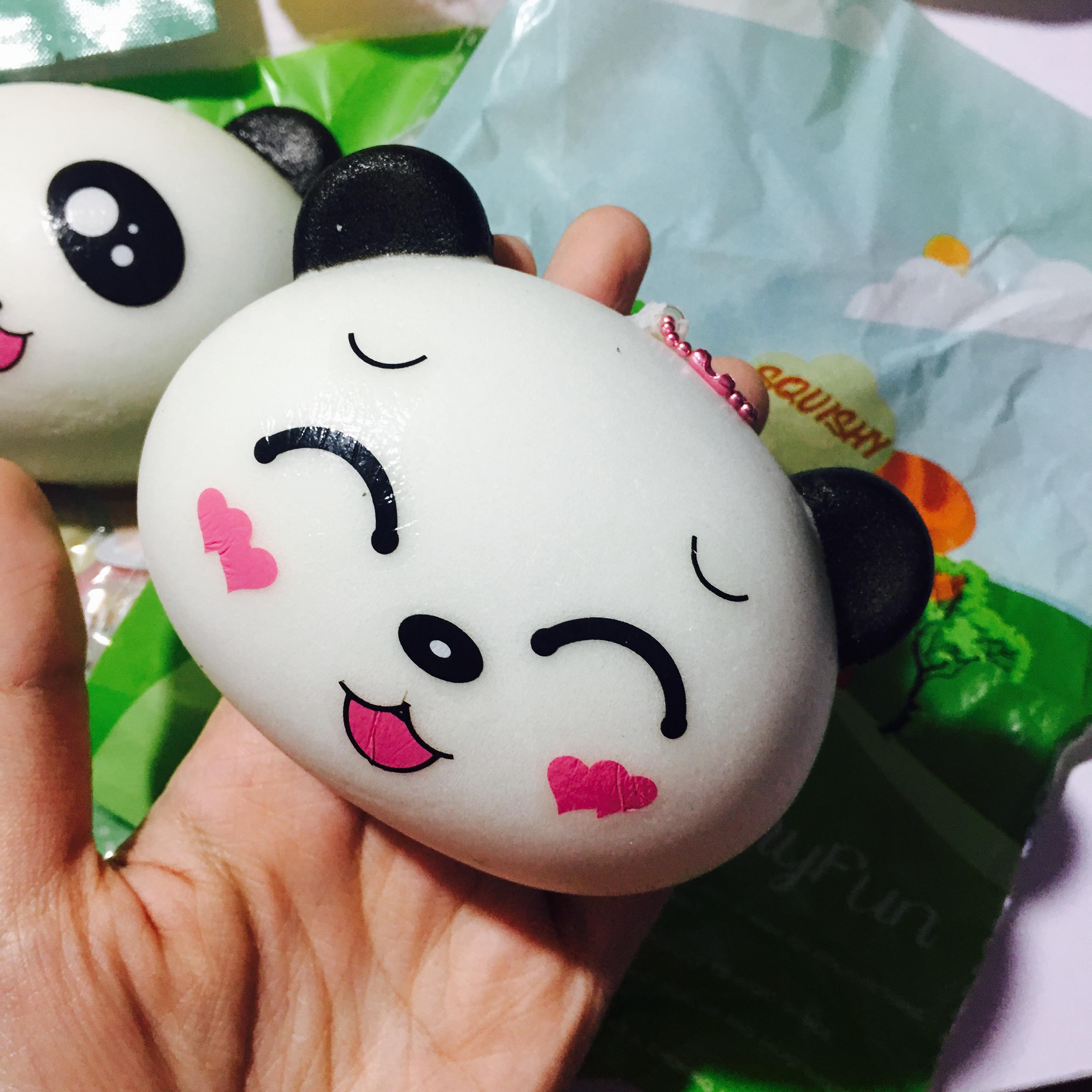Squishy Head Bun : ~SquishyStuff~ Large Panda Head Bun Squishy!! Online Store Powered by Storenvy