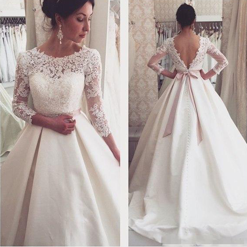 WD57 Lace Backless Wedding Dresses,Wedding Dress,Custom Made Wedding ...