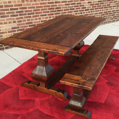 Carroll dining table  trestle urn  farmhouse  reclaimed wood  custom   handcrafted Home   Wonderland Woodworks   Online Store Powered by Storenvy. Farmhouse Dining Table Made In Usa. Home Design Ideas