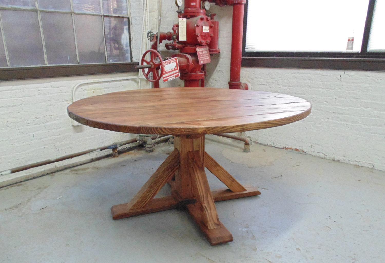 Washington Round Dining Table  Reclaimed Wood  Custom  Handcrafted   Plank  Handmade. Washington Round Dining Table  Reclaimed Wood  Custom  Handcrafted